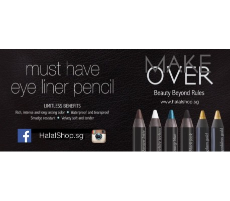 MakeOver Eye Liner Pencil - White Techno