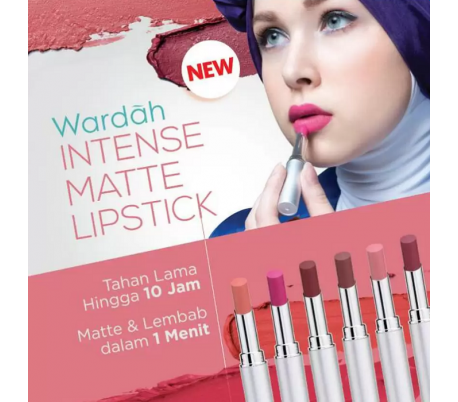 Wardah Intense Matte Lipstick 08 - Retro Red