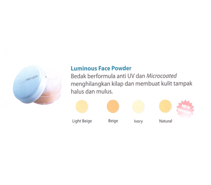 Halal cosmetics singapore wardah everyday luminous face powder 30g everyday luminous face powder 01 light beige ccuart Image collections