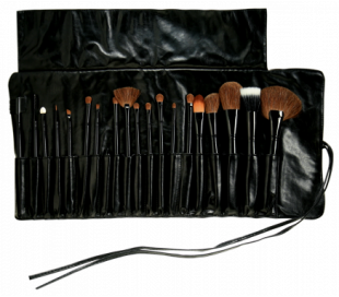 MAKEOVER Professional Brush Set (20 pcs with Leather Bag)