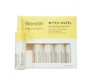 Wardah Witch Hazel Purifying Serum, 5x5 ml