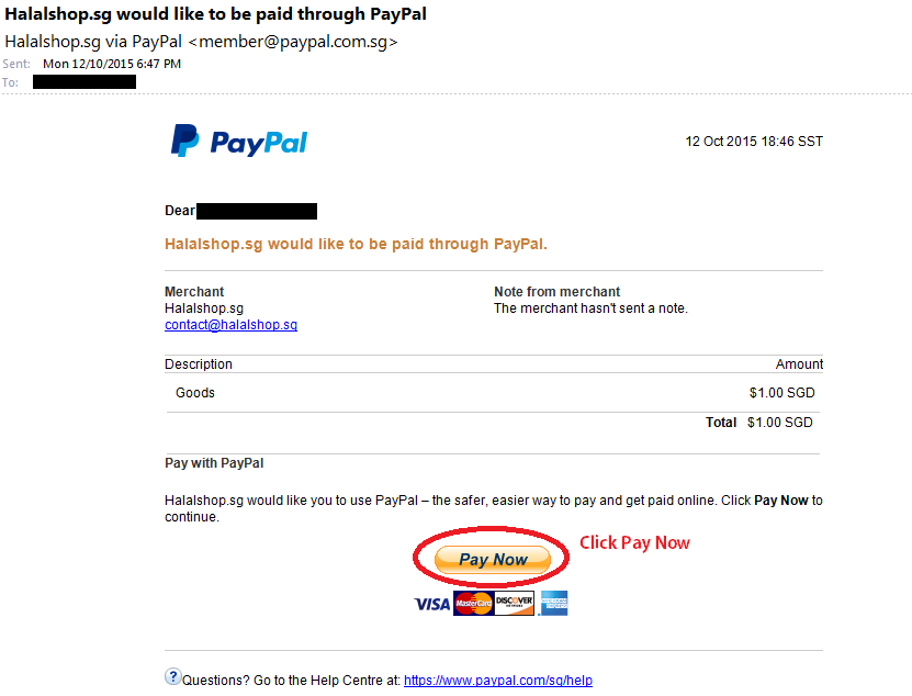 Step 1 Manual PayPal Instruction